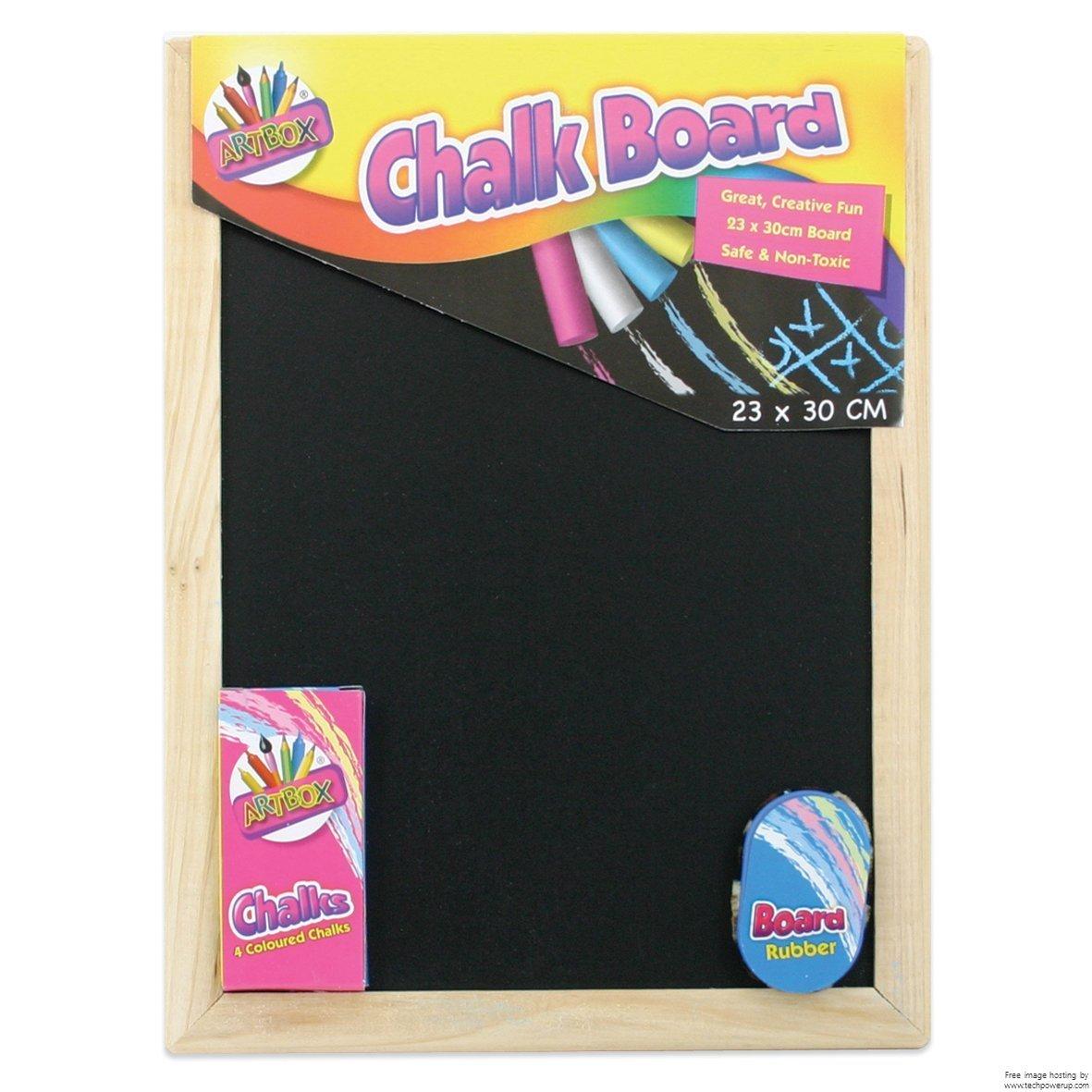 Artbox 23x30cm Chalk Board Set Tallon International Ltd 5249