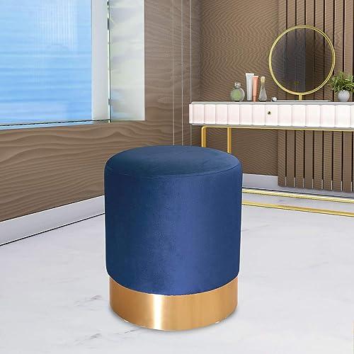 GOLDSUN Round Velvet Ottoman Footrest Stool