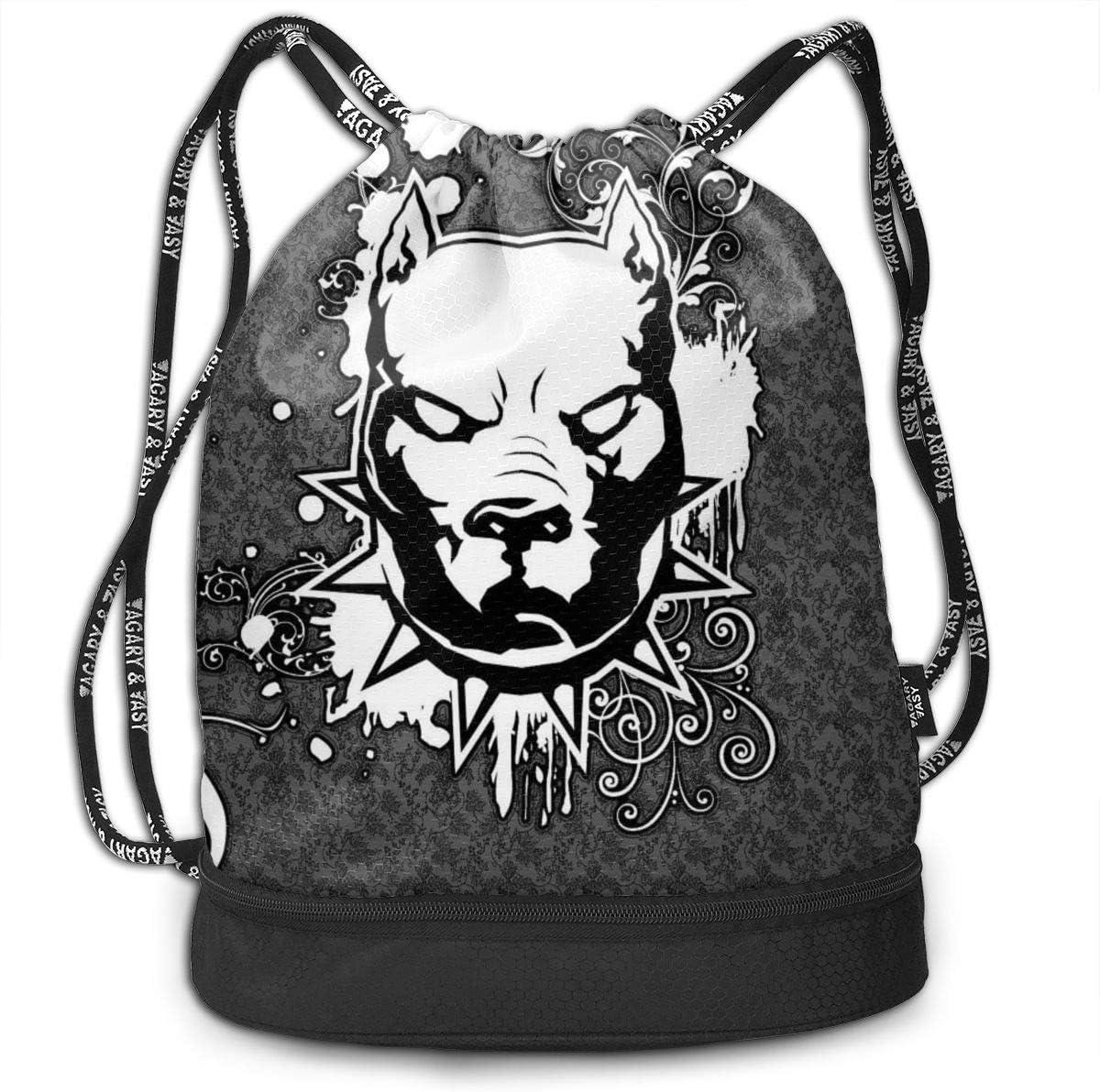 GymSack Drawstring Bag Sackpack Abstract Dog Skeleton Sport Cinch Pack Simple Bundle Pocke Backpack For Men Women