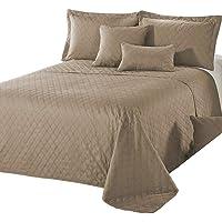 Delindo Lifestyle® Sprei, bedsprei, premium bruin, voor tweepersoonsbed, eenkleurig, voor slaapkamer, 220 x 240 cm