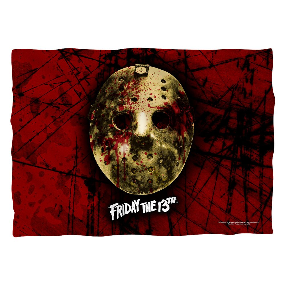 Friday The 13th Jason Voorhees Slasher Movie Bloody Mask Front Print Pillow Case