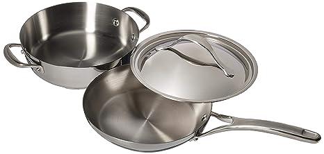 Amazon.com: Anolon Nouvelle 3 piezas de cobre acero ...