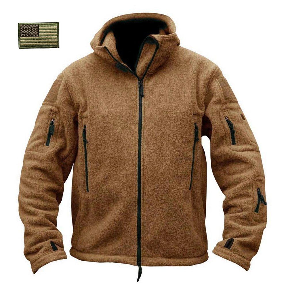 ReFire Gear Men's Warm Military Tactical Sport Fleece Hoodie Jacket