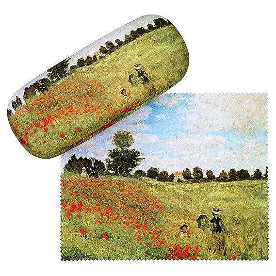 VON LILIENFELD Estuche Gafas Funda Mujer Motivo Arte Floral Claude Monet: Campo de amapola: Amazon.es: Ropa y accesorios