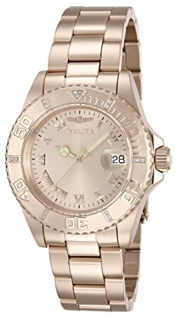 Invicta 12821 Pro Diver Reloj para Hombre acero inoxidable Cuarzo Esfera oro rossa: Amazon.es: Relojes