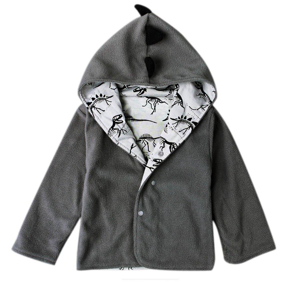 Robemon Toddler Clothes,Children Kids Costume Baby Boy Cute Coats Jacket Warm Winter Hot Hooded Boy Dinosaur Outwear