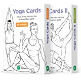 WorkoutLabs Yoga Cards I & II - Complete Set: The Original Premium Visual Study, Class Sequencing & Practice Guide · Plastic Flash Cards Decks with Sanskrit