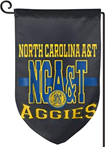 Levoncar Nc North Carolina A&T State University Aggies Garden Flag 12.5x18 Inch Yard Flag
