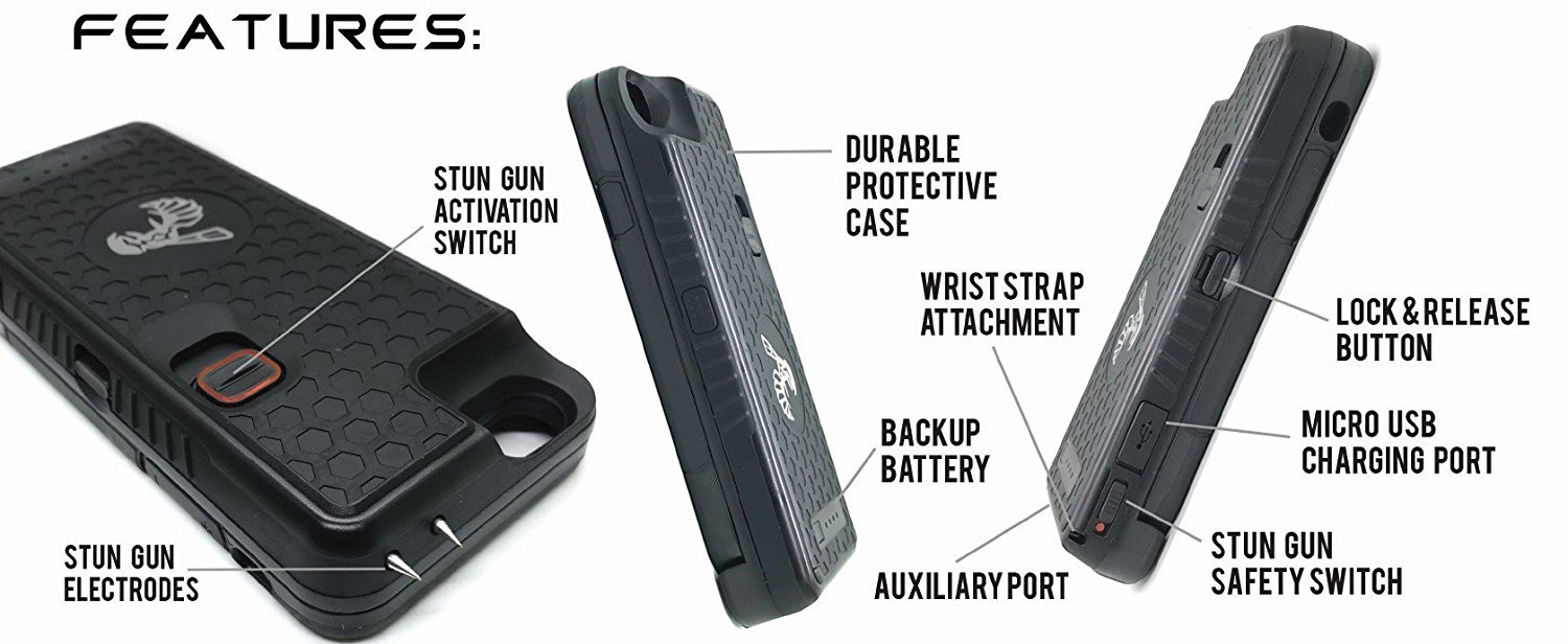 The Only High Powered Stun Gun That Protects Recharges Xrep A Combination Of Taser And Shotgun Your Iphone 6 6s Concealed Inside Durable Weatherproof Case Flexibility To