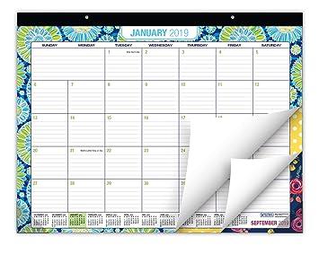 Amazon Com Desk Calendar 2019 Large Monthly Pages 22 X17