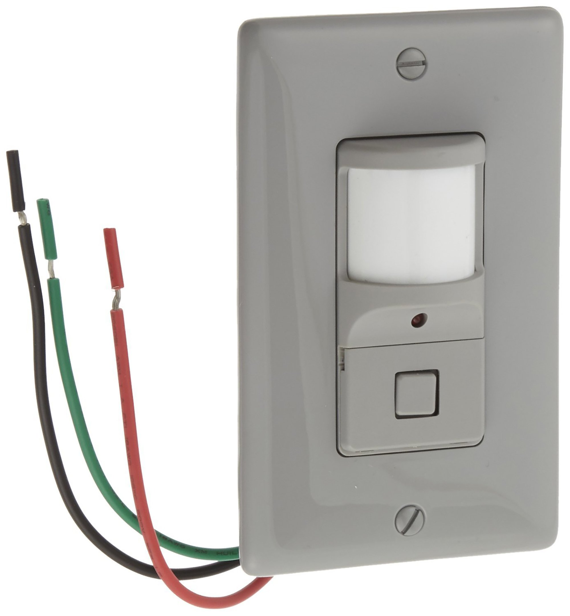 Hubbell  ATP1277GY Wall Switch Sensor, 1 button, Gray, 1200sqft Max Sensing Range, 800W Incandescent