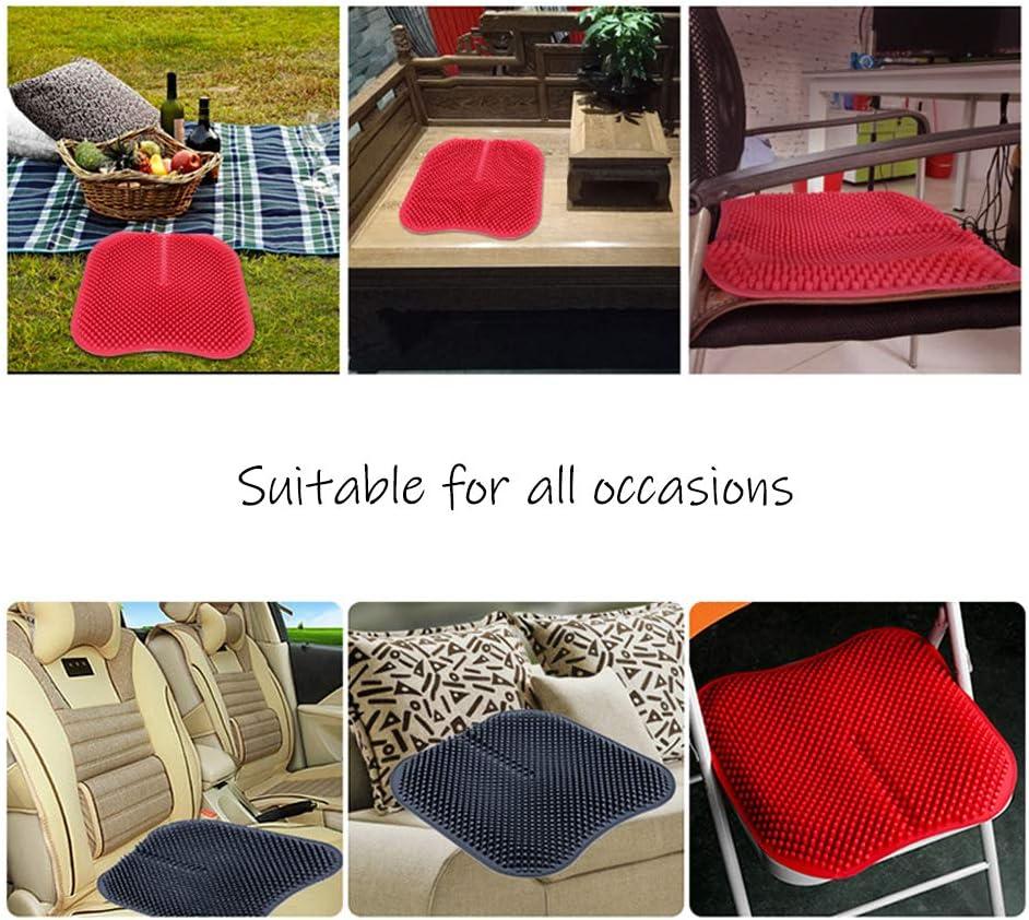 quattro stagioni universali grigio viaggio in macchina confortevole e traspirante cuscino per massaggio salute 3D Cuscino per seggiolino auto in silicone allevia laffaticamento sedentario