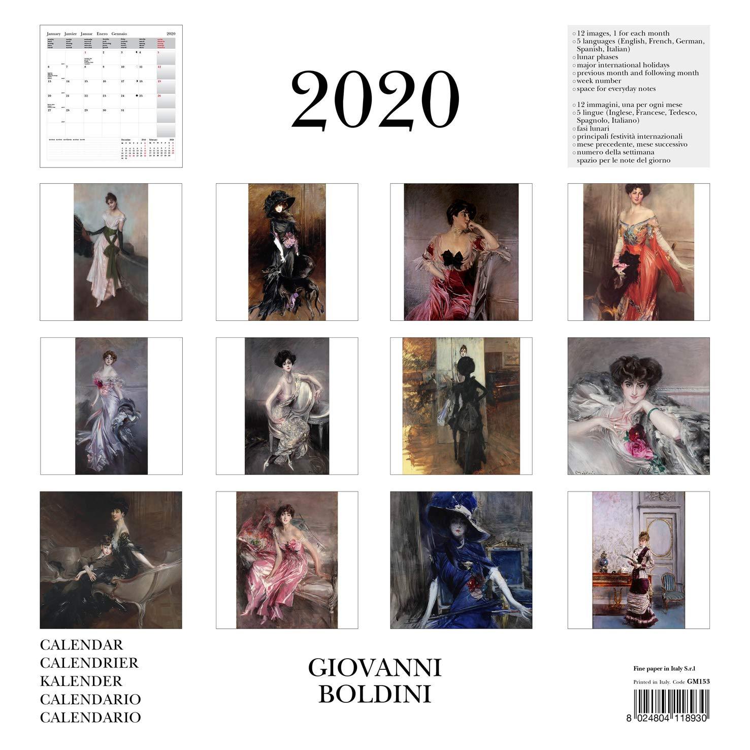 CALENDARIO DA PARETE 2020 BOLDINI GIOVANNI 30X30 CM GM153