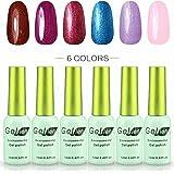 Gellen Soak Off UV LED Gel Nails Polish, New 6 Colors Series