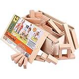 Jouets blocs de construction - set de base (156 cubes en bois)