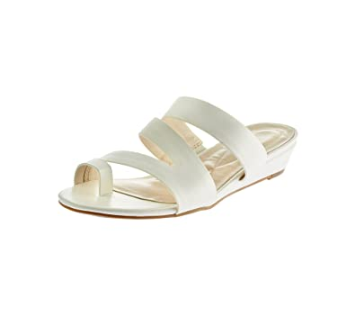 6a464843a985d0 Relativity  quot Polly Wedge Sandals White ...