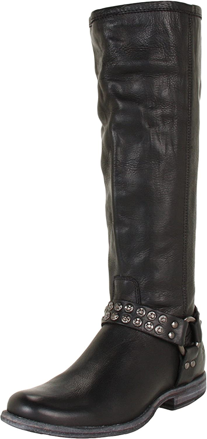 FRYE Women's Phillip Studded Harness Tall Boot - B0071HKVZO