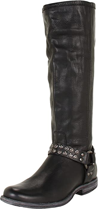 71NV6t0Mw L._UY695_ amazon com frye women's phillip studded harness tall boot knee high