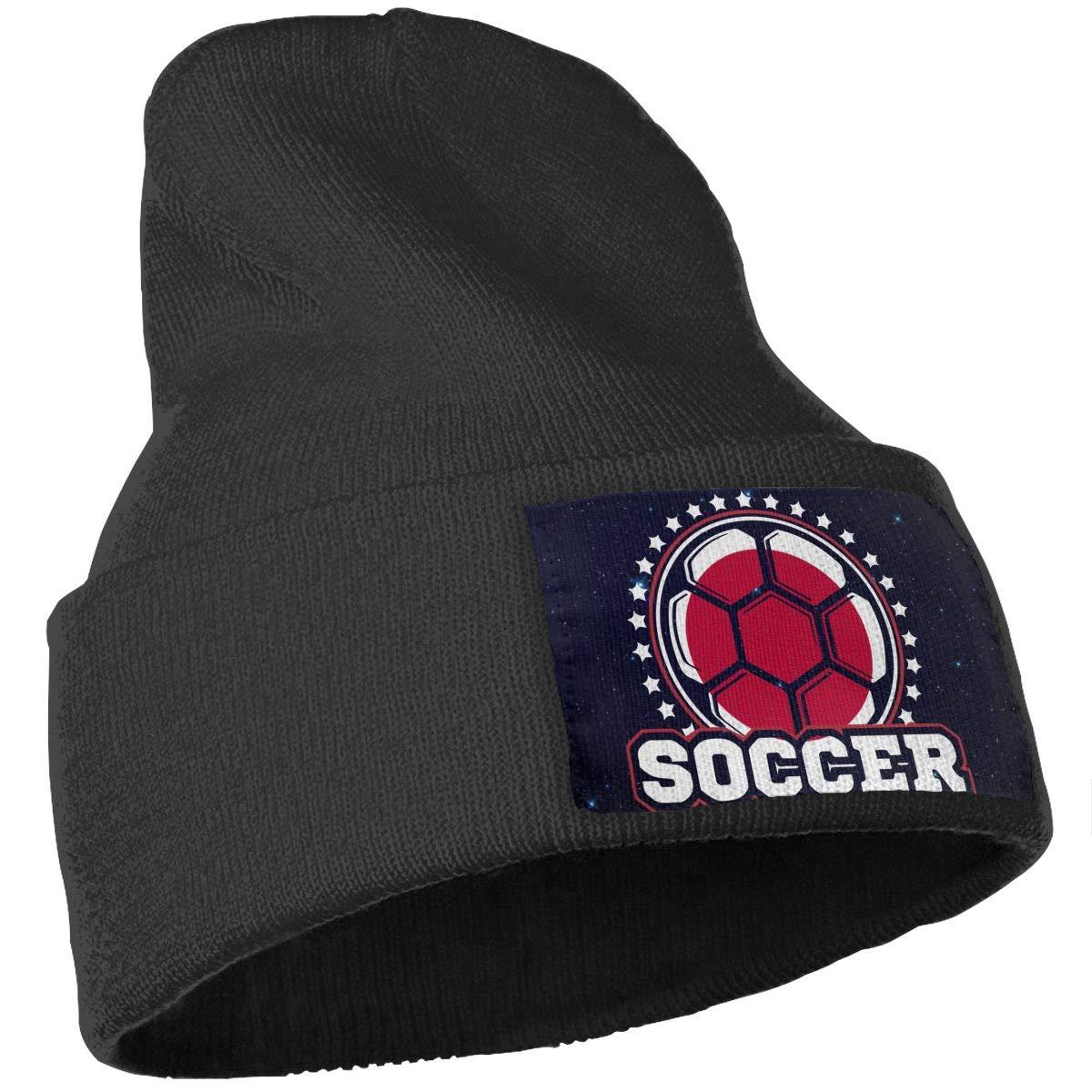 Japan Flag Soccer Player Skull Cap Men Women Knitting Hats Stretchy /& Soft Beanie