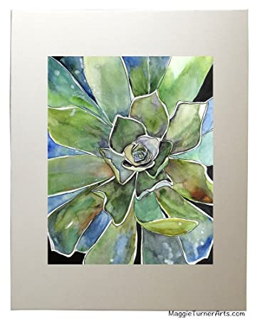 Superb Succulent Wall Art Agave Watercolor Fine Art Prints, Matted To 11u0026quot ...