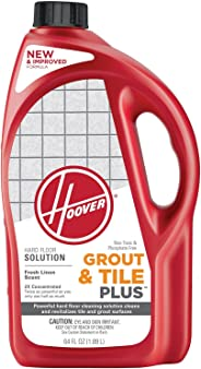 Hoover Grout and Tile Plus Hard Floor Cleaner Solution Formula, 64 oz, AH30430NF