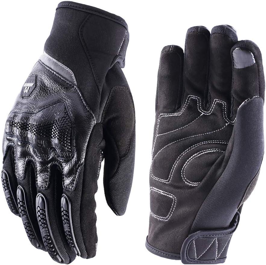 Green,XXL Guantes Moto Piel Cuero de Verano para Hombre,Guantes Sport Pantalla T/áctil Transpirable para Moto Motocross Ciclismo Deportivos