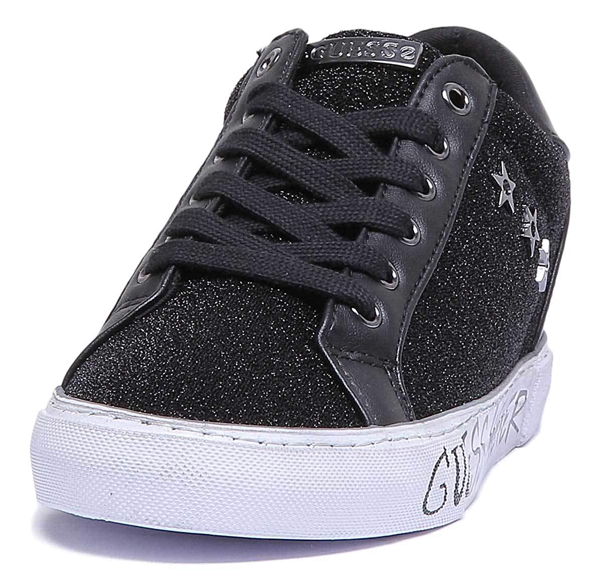 GUESS Flpre4Fap12 Womens Black Synthetic Trainer