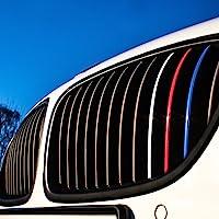 Motoking® Nierenaufkleber - REFLEKTIEREND - 24-teiliges Autoaufkleberset, 4 reflektierende Farben im Set (Dunkelblau, Rot, Weiß-Silber, Hellblau)