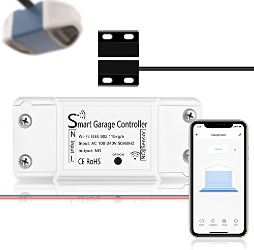 Smart WiFi Garage Door Opener Controller Wireless App Control Remote Controller Compatible