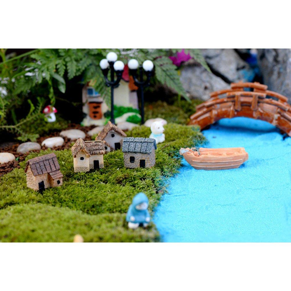 DIY Puppenhaus Zubehör Harz Miniatur Haus Kit Mini Weiße Eule Kreative