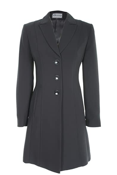 Busy Clothing Womens Black Long Suit Jacket: Amazon.co.uk: Clothing