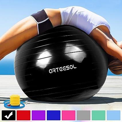 Arteesol Pelota de Ejercicio 65cm / 75cm Balón Pilates Anti ...