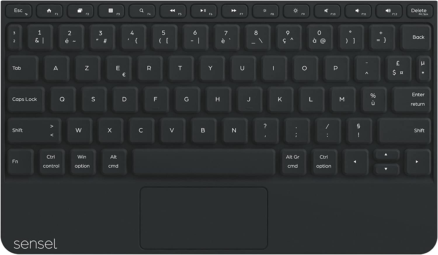 Pressure Sensitive Input Device with Swappable Overlays for Artists USB and Bluetooth AZERTY Keyboard Overlay for The Sensel Morph Video Editors and All Kinds of Creators a Multi-touch Musicians