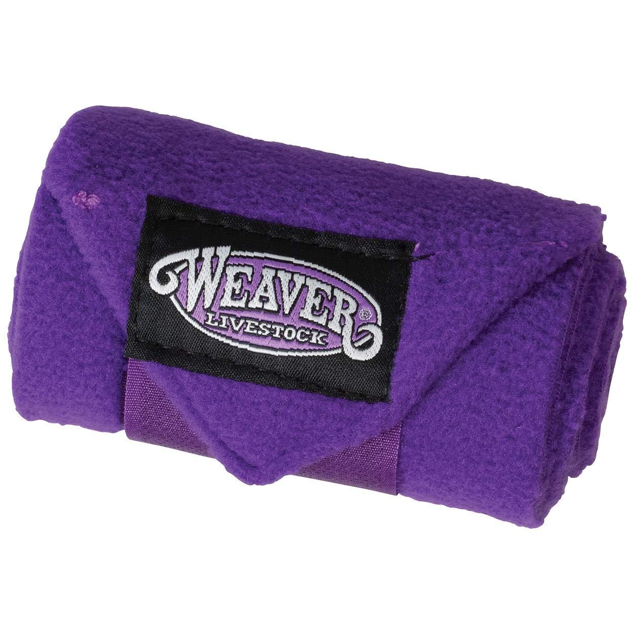 Weaver Leather Sheep & Goat Fleece Leg Wraps, Four-Pack, Purple by Weaver Leather