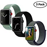 Lozer Compatible with Apple Watch Band 38mm 42mm, Soft Nylon Sport Loop, with Hook and Loop Fastener, Replacement Band Compatible with iWatch Series 1/2/3