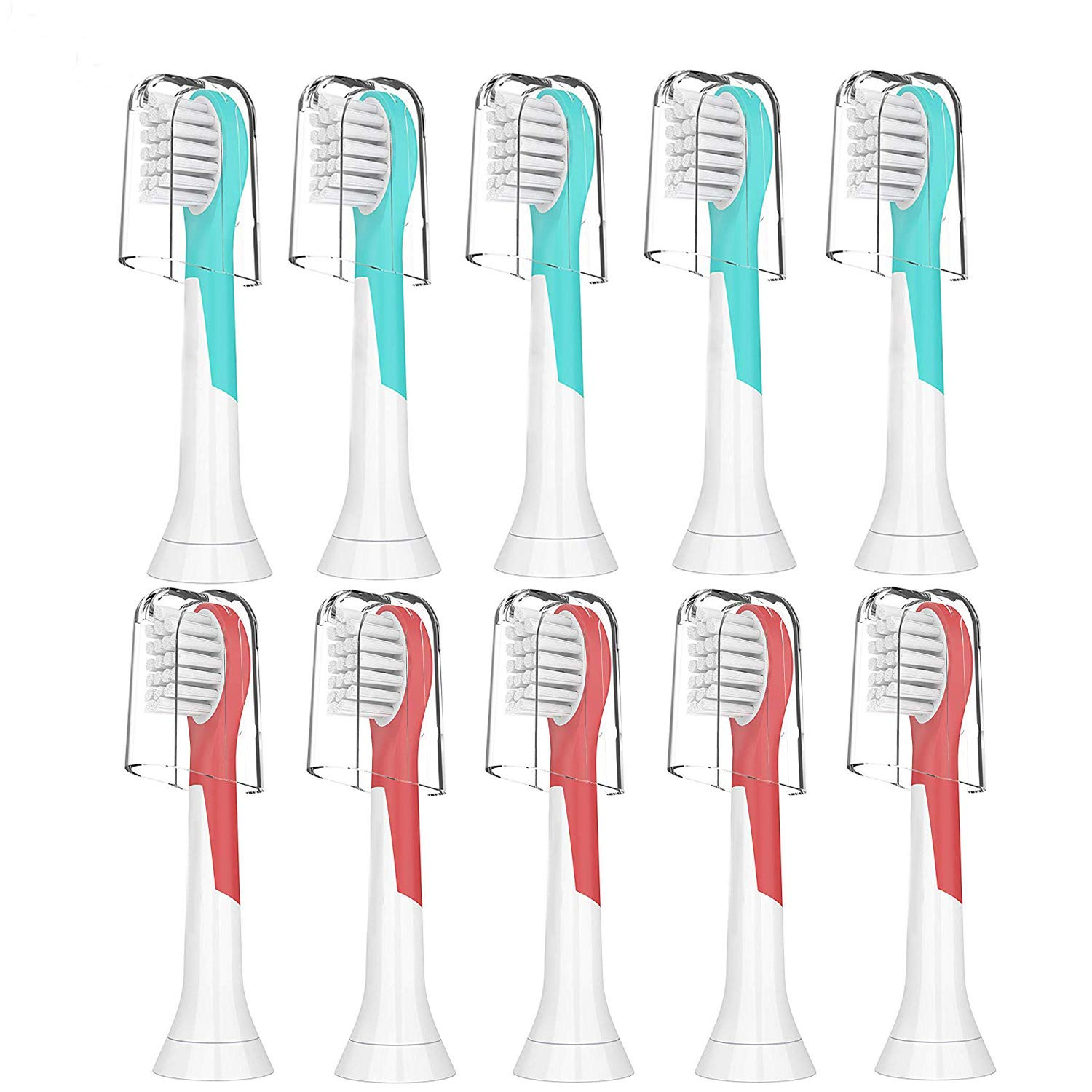 Kids Replacement Toothbrush Heads, Compatible with Philips Sonicare for Kids Toothbrush HX6032/94,HX6320,HX6340,HX6321,HX6330,HX6331,10 pack Compact Sonic Care Toothbrush Heads for Kids 3-7 Years Old