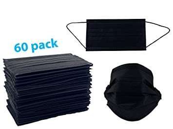 disposable face mask black