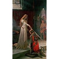 A Ordenação de um Cavaleiro - Edmund Leighton - Tela 90x155 Para Quadro