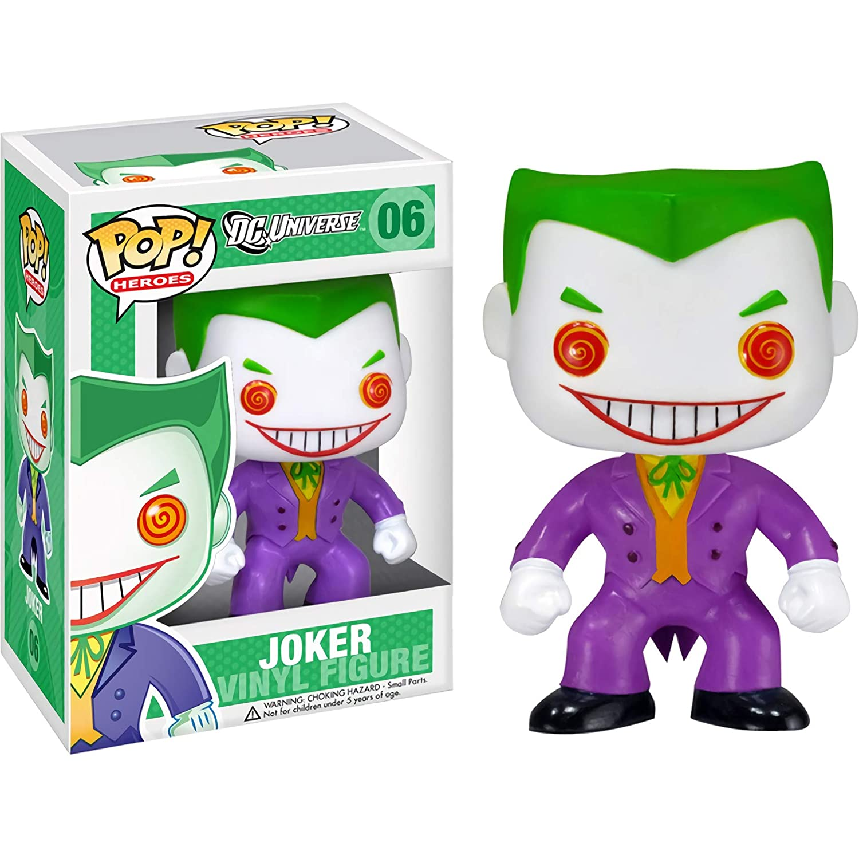 Funko The Joker: DC Universe x POP Heroes Vinyl Figure /& 1 POP BCC9U7045 #006 // 02211 - B Compatible PET Plastic Graphical Protector Bundle