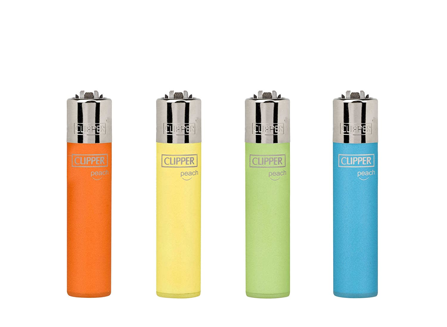 Clipper 53, Peach -mini Collection, Pack of 4 Lighters FLAMAGAS