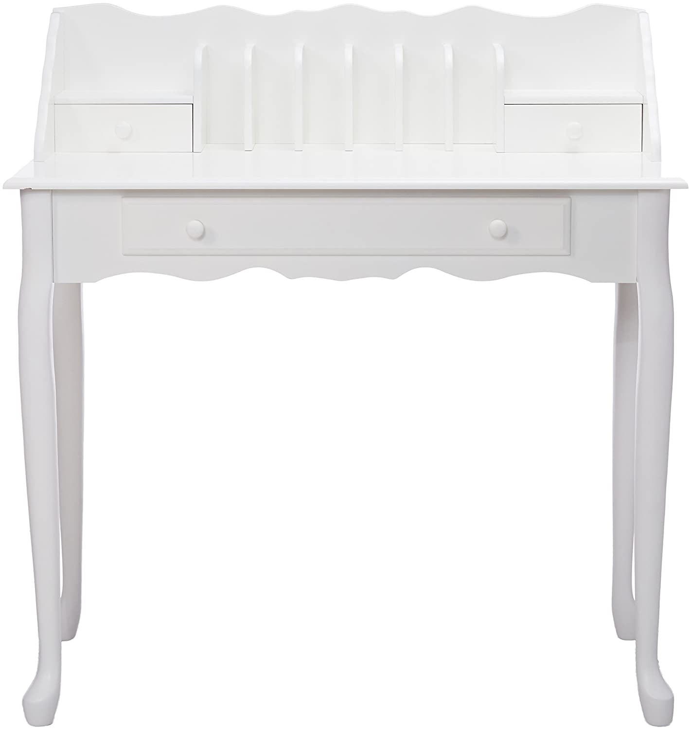 Monarch specialties , Traditional Desk, Solid Wood, Antique White, 36 L