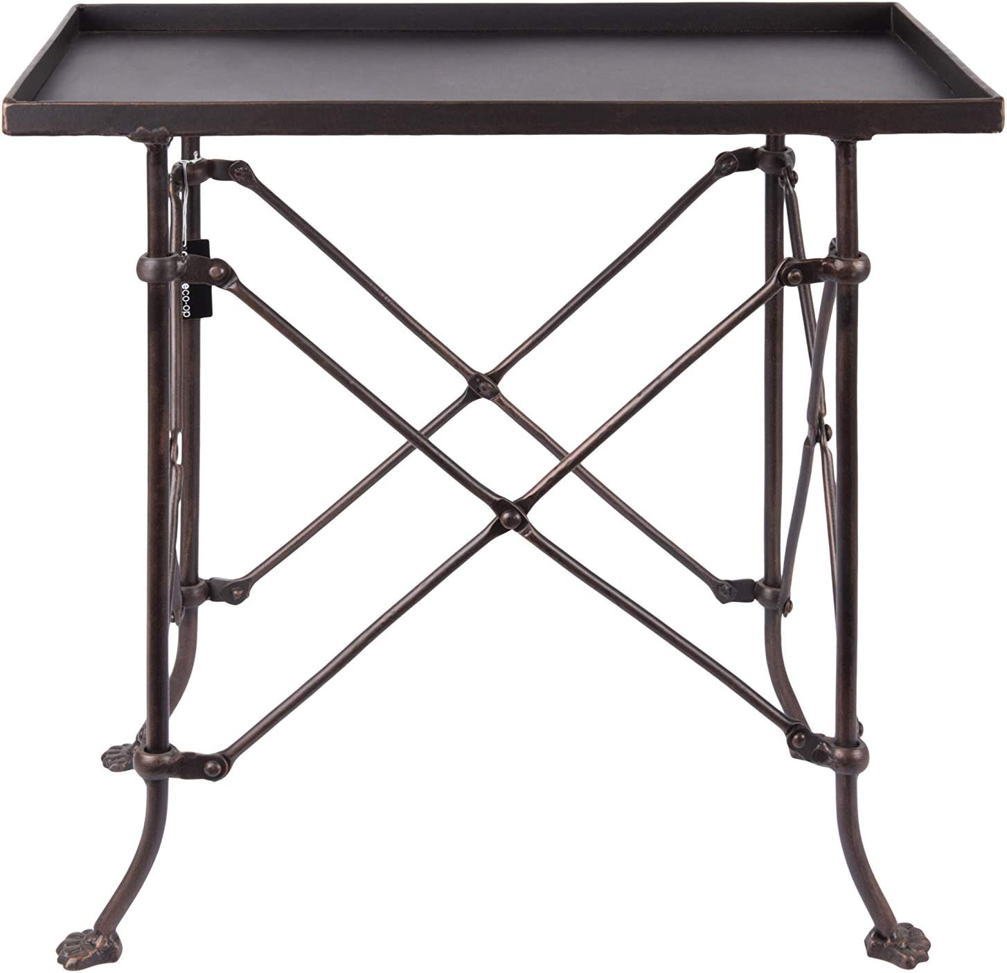 Creative Co-op Bronze Metal Rectangle Table, 20""