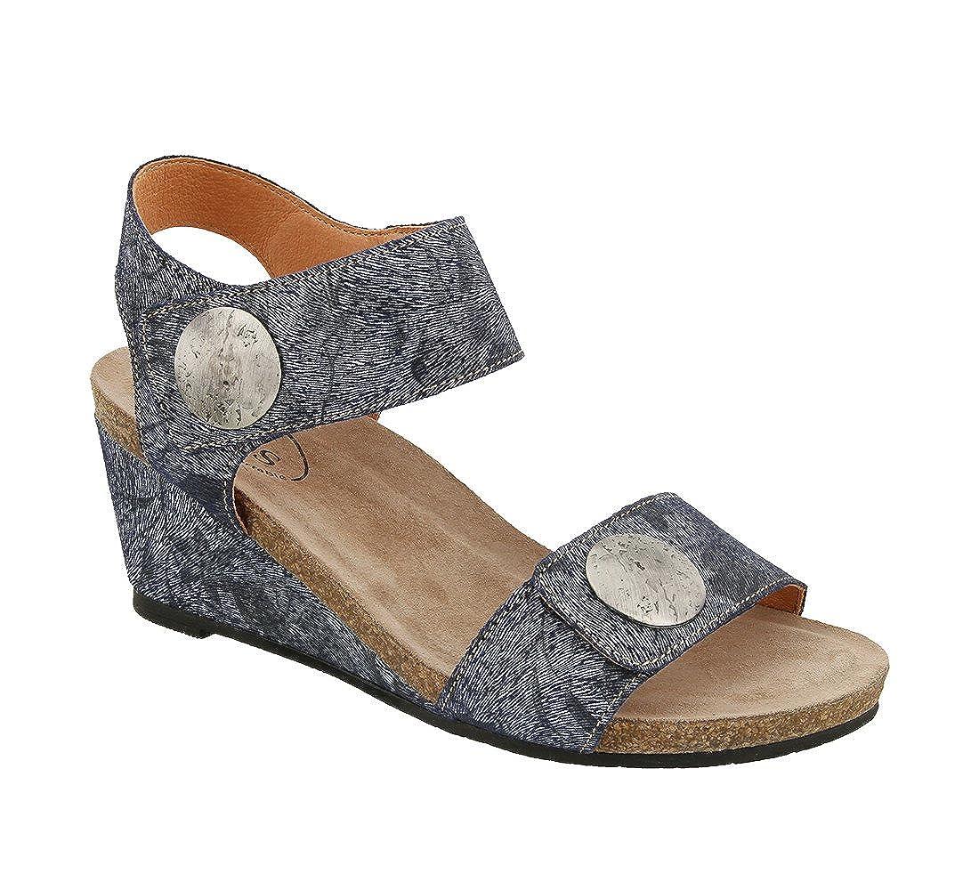 Taos Footwear Women's Carousel 2 Blue Floral Sandal 39 M EU / 8-8.5 B (M) US B073MKNXVN Parent