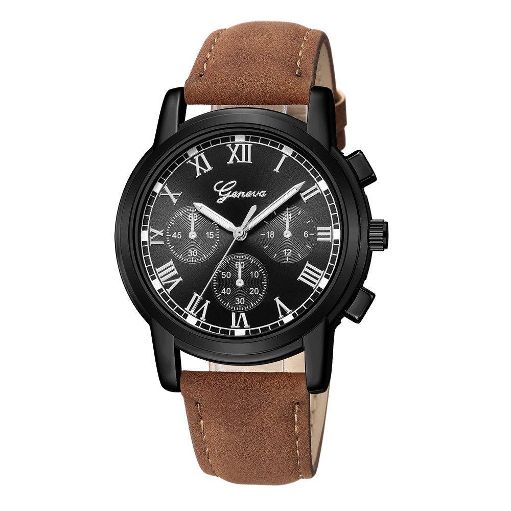 Kinlene Reloj de cuarzo para mujer,Deporte de lujo acero inoxidable reloj de muñeca de banda de cuero de Dial (D): Amazon.es: Relojes