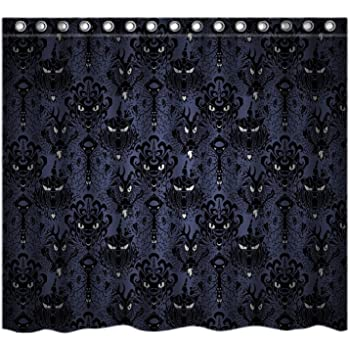 Haunted Mansion Halloween Custom Shower Curtain Stylish Waterproof Polyester Fabric Bathroom
