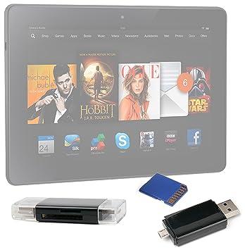 DURAGADGET USB 2,0 SD/microSD lector de tarjetas para Kindle Fire ...