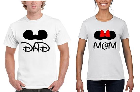 f78e0941 Amazon.com: All Disney Minnie Mickey Mouse T Shirt for Women Men Couple:  Clothing