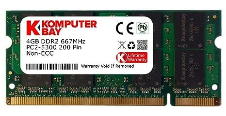 Komputerbay - Módulo de memoria para portátiles Sony (SO-DIMM CL5, 4 GB