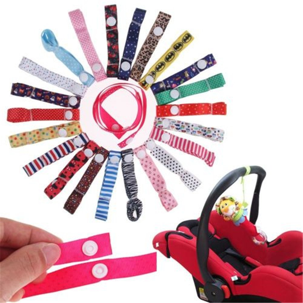 MAXGOODS Baby Pacifier Clips Toy Dropping Stop Strap, Random color, 4-Pack