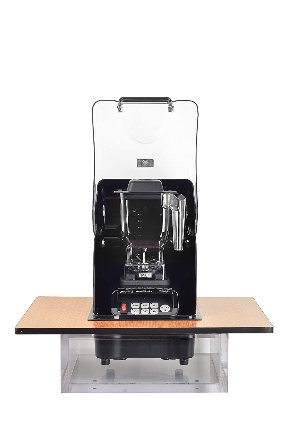 OmniBlend Omni-Q2 Commercial Blender with Built-in Full Sound Enclosure Shield for the Professional Kitchen, Heavy Duty 3-Speed, Self-Cleaning, Multifunctional 2-in-1 Wet Dry Blades, 1.5 Liter Jar